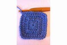 CROCHET granny square double crochet no holes