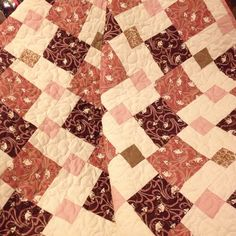 Mauve Pink Brown and A Touch of French by WrappingYouInWarmth, $97.00