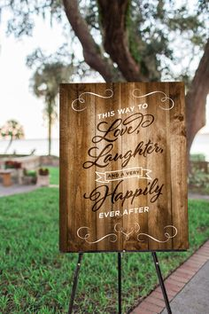 Printable Wedding Welcome Sign, Rustic Wood Sign, Wedding Decor, Happily Ever After, Country Wedding, Party Decor