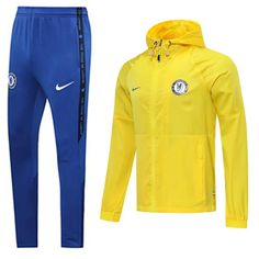 Chelsea 20/21 Yellow Hoodie Men Windbreaker Suit – zorrojersey Chelsea Nike, Fc Chelsea, Fc Barcelona, Manchester United, Real Madrid, Arsenal, Fc Liverpool, Yellow Hoodie, As Roma