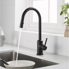 Latitude Run Murray Pull Out Single Handle Kitchen Faucet Finish: Matte Black Kitchen Faucet With Sprayer, Best Kitchen Faucets, Bathroom Faucets, Kitchen Faucets Pull Down, Kitchen Hardware, Kitchen Handles, Home Decor Kitchen, Rustic Kitchen, Kitchen Ideas