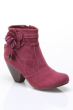 c label Chuck-7 Bootie With Flower Detail In Plum = OH SO TERRIBLY CUTE!!!