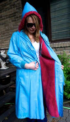 VINTAGE RAINCOAT ALLWEATHER Autumn Winter Coat by blingblingfling