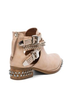 Jeffrey Campbell Everly Embellished Boot in Beige//