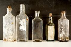 Antique / Vintage Medicine Bottles / Apothocary by ThirdShift - instant bottle collection.  Fun Halloween party or mad science party decor.