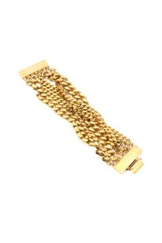 The Twisted Gold Chain Bracelet by Ben Amun at CoutureCandy.com