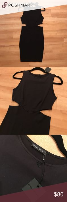 DONNA MIZANI BLACK CUTOUT DRESS. SIZE SMALL. NWT!! DONNA MIZANI BLACK CUTOUT DRESS. SIZE SMALL. NWT!! donna mizani Dresses
