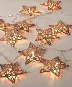 This Bronze LED Star Garland is perfect! #zulilyfinds