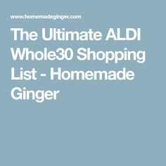 This is THE ULTIMATE aldi shopping list. Shop for your grocery list without spending a fortune! Whole30 Shopping List, Shopping Lists, Grocery Lists, Aldi Meal Plan, Diet Meal Plans, Paleo Whole 30, Whole 30 Recipes, Ketogenic Diet Meal Plan, Meal Planning