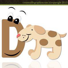 Alphabet Letter D 1 - CLG Cutting File / Paper Piecing Pattern : Digi Web Studio, Clip Art, Printable Crafts & Digital Scrapbooking!