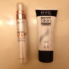 the L'Oreal primer is not high end, but the NYC primer is exactly the same color and consistency and it's $7 cheaper