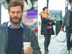 HE MIGHT play BDSM obsessed Christian Grey in Fifty Shades of Grey but Jamie Dornan is a family man at heart.