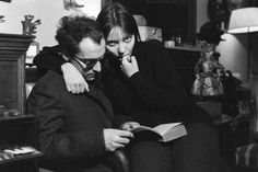Jean-Luc Godard and Anna Karina at home, 1963 Anna Karina, Breaking Bad Jesse, Kiss And Romance, Friday Im In Love, French New Wave, Jean Luc Godard, Vogue, French Actress, French Films