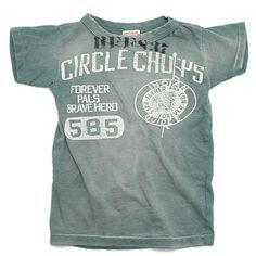 DENIM DUNGAREE(デニムダンガリー):ビンテージテンジク CIRCLE CHOPS Tシャツ 29LKH淡カーキ の通販ブランド子供服のミリバール