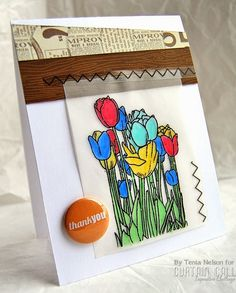 Card by Tenia Nelson using Sketched: Tulips