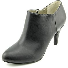 Style and Co Shaie Womens Black Faux Leather Booties Shoes -- Read more  at the image link.