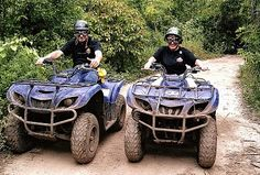 ATVing- the exercise we must have at my Dream Spa Retreat! (and yes, that's hubs & me!) #spaweek