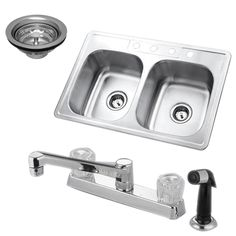 Fashion Plumbing - PKZ33226SP 3 piece set kitchen sink with faucet and drain combo kit, $102.48 (http://www.fashionplumbing.com/princeton-brass-pkz33226sp-3-piece-set-kitchen-sink-with-faucet-and-drain-combo-kit/)