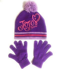 31f885e27fc Cute and Stylish Winter Hat with Gloves. Bright Purple with Pom Pom on Top.  4everfunky · Toys