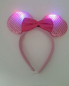 Light Up LED Mouse Costume Ears Headband - Lt Pink Disney http://www.amazon.com/dp/B011DFVHN4/ref=cm_sw_r_pi_dp_Sj9Xwb1YS944H