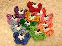 Ravelry: Project Gallery for Crochet butterfly pattern by Marie of Marie's Making