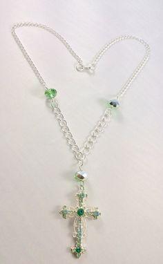 Cross necklace silver necklace prayer religion spiritual