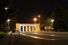 Парк Ленінського комсомолу. Lenin Komsomol Park. Kherson. Ukraine. South. Tourism. Antiquity. Sculpture. Architecture.Pillars.