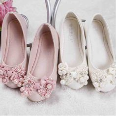 Ivory Lace Flower Girl Shoes Flower Girl Shoes, Little Girl Shoes, Cute Baby Shoes, Lace Flower Girls, Girls Shoes, All About Shoes, Girls Necklaces, Pretty Shoes, Jewellery Display