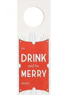 Letterpress Wine Tags from Paper Source