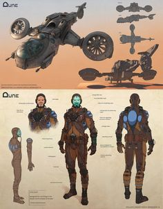 Dune - Ornithopter and Stillsuit Concept by Nikolay Asparuhov