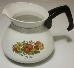 Vintage - Mid Century Corning Ware 2 quart teapot without lid. FREE SHIPPING - US by HailleysCloset on Etsy