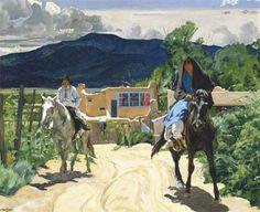 "Walter Ufer, The Kissel Studio, after 1929 Oil on Canvas, 20"" x 25"" Denver Art Museum"