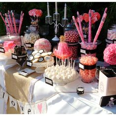 joe wants pink and black so ill look ;)  Pink and black wedding candy bar