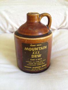 Little Brown Mountain Dew Jug via Etsy