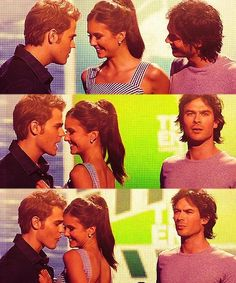 That awkward moment when Nina flirts with with Paul, while dating Ian, in front of Ian, on national tv.
