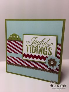 Stampin' Up!, PCCCS067, Christmas Messages, Season of Style DSP Stack, Circle Card Thinlits, Tasteful Trim Bigz XL, Dotted Scallop Ribbon Border Punch, Boho Blossom Punch, Basic Jewels Pearls