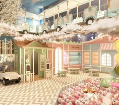 Discover this magical kid Kids Cafe, Fantasy Rooms, Toddler Rooms, Kids Rooms, Minimalist House Design, Room Design Bedroom, Toy Rooms, Celebrity Houses, Dream Home Design