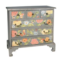 I pinPinedaned this Springtime Accent Chest from the Style Study: Granny Chic event at Joss and Main! An old chest could be painted with flowers.