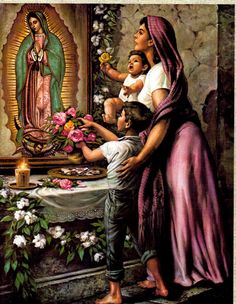 Ideas for mexican folk art painting virgin mary Mexican Artwork, Mexican Paintings, Mexican Folk Art, Mexican Artists, Catholic Art, Religious Art, Mexican American, Jesus Helguera, Arte Latina