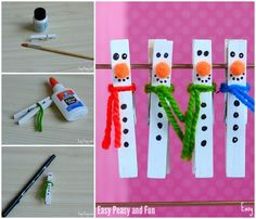 Clothespin Snowman Craft for your Little Ones