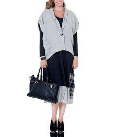 Look what I found on #zulily! Gray Patchwork Shift Dress - Plus #zulilyfinds