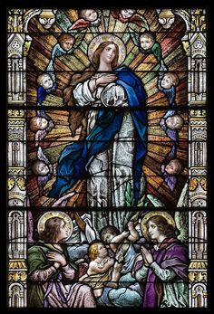 Cross Tipped Churches: Immaculate Conception (Stained Glass)