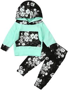 4dc6e1ef8d0b Amazon.com  Lavany Infant Baby Girl Fall Outfits Long Sleeve Floral Tops  +Pants