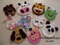 × - Knitting and Crochet Marque-pages Au Crochet, Crochet Mask, Crochet Amigurumi, Crochet Motifs, Crochet Gifts, Crochet Toys, Crochet Stitches, Crochet Applique Patterns Free, Crochet Blanket Patterns