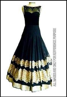 Lavishing Black Pure Net Designer Gown - Designer Gown   Zakasi.com