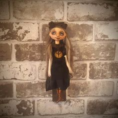 Art Doll - Rune - Gothic - Witch - Doll - Protection - Runes - Artistic Doll - Porcelain Doll - Wall Hanger - OOAK Doll - Creepy - Halloween by Rustiikkitupa on Etsy