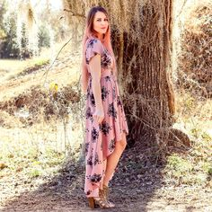 Pink floral dress, boho style, fairy tale dress, blogger style, spring
