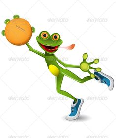 Frog Basketball  #GraphicRiver         illustration merry green frog with a basketball   vector EPS 10, AI 10 file, JPEG 5334×5155   3 layers   fully editable     Created: 18July13 GraphicsFilesIncluded: JPGImage #VectorEPS #AIIllustrator Layered: Yes MinimumAdobeCSVersion: CS Tags: alive #amphibious #animal #ball #basketball #curiosity #cute #eye #fauna #frog #game #glance #green #illustration #interest #jump #merry #nature #paw #shoes #sneakers #sports #sportsman #tongue #triton #vector…