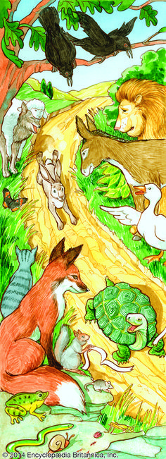 Fables: The Hare and the Tortoise by Judie Anderson