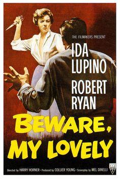 """Movie poster, """"Beware My Lovely"""", starring Ida Lupino and Robert Ryan, 1952"""